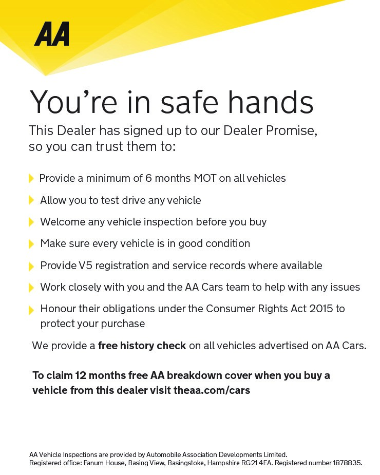 AA You're in safe hands with Car Now